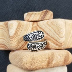 925 silver spoon inspired ring size 7